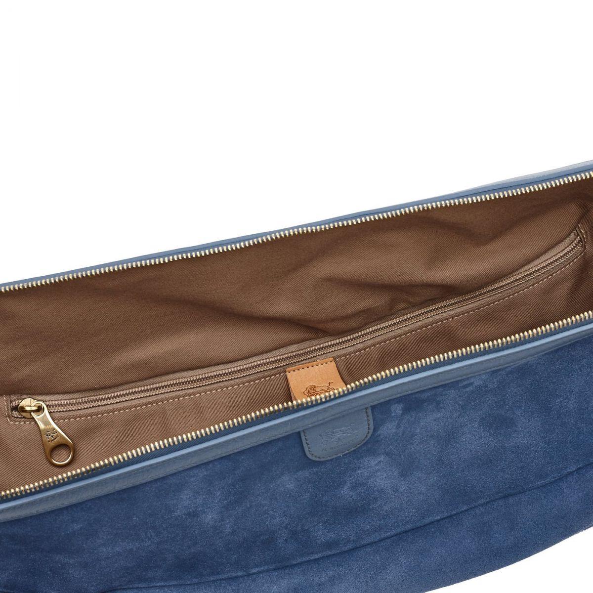 Women's Crossbody Bag  in Suede BCR153 color Sugar | Details