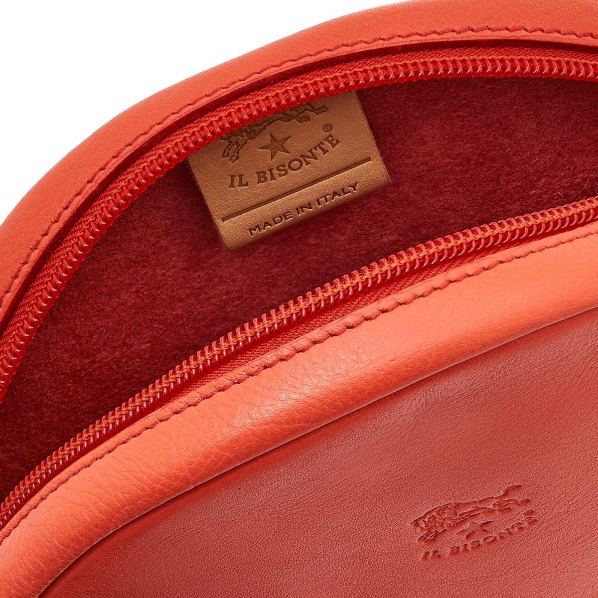 Women's Crossbody Bag Elisa in Cowhide Leather BCR159 color Gazpacho | Details