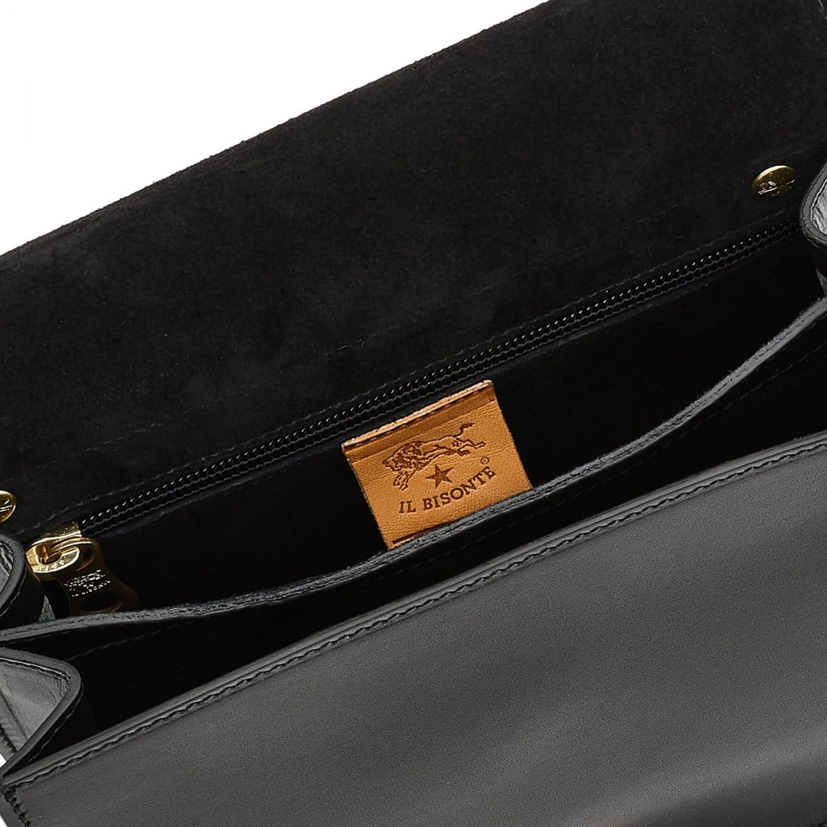 Women's Crossbody Bag Salina in Cowhide Leather BCR170 color Black | Details