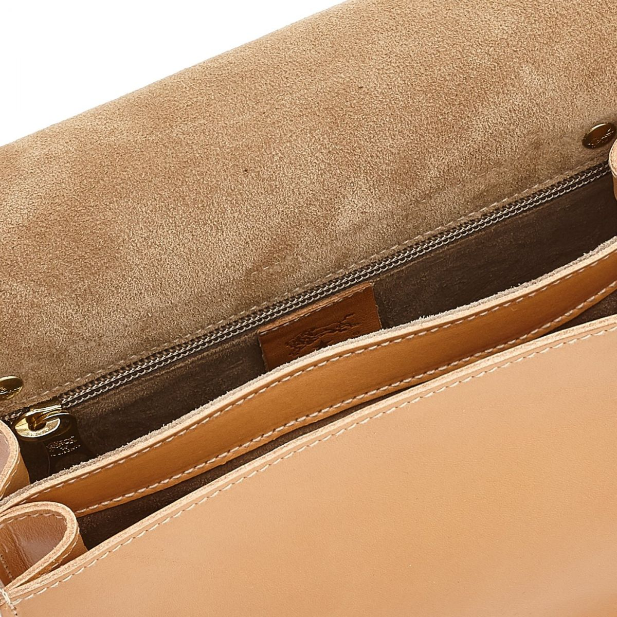 Women's Crossbody Bag Salina in Cowhide Leather BCR170 color Natural | Details