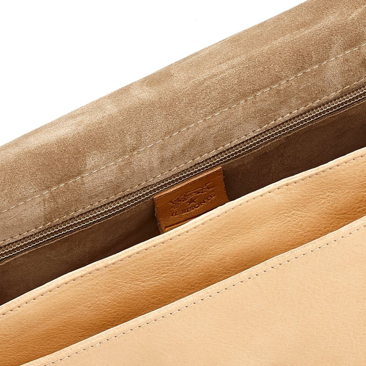 Women's Crossbody Bag Salina in Cowhide Leather BCR172 color Natural | Details