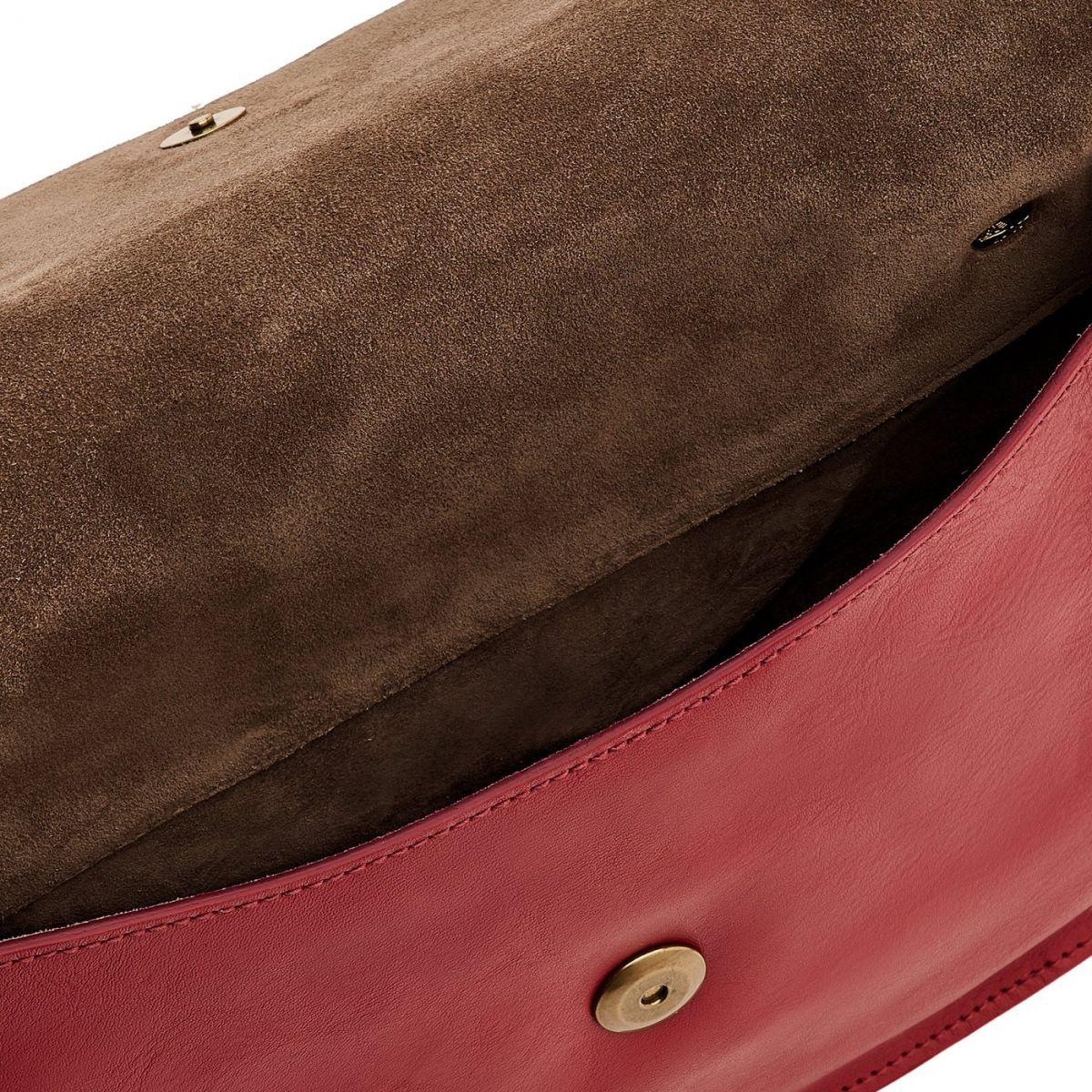 Borsa A Tracolla da Donna Salina in Pelle Di Vacchetta BCR173 colore Sumac | Details