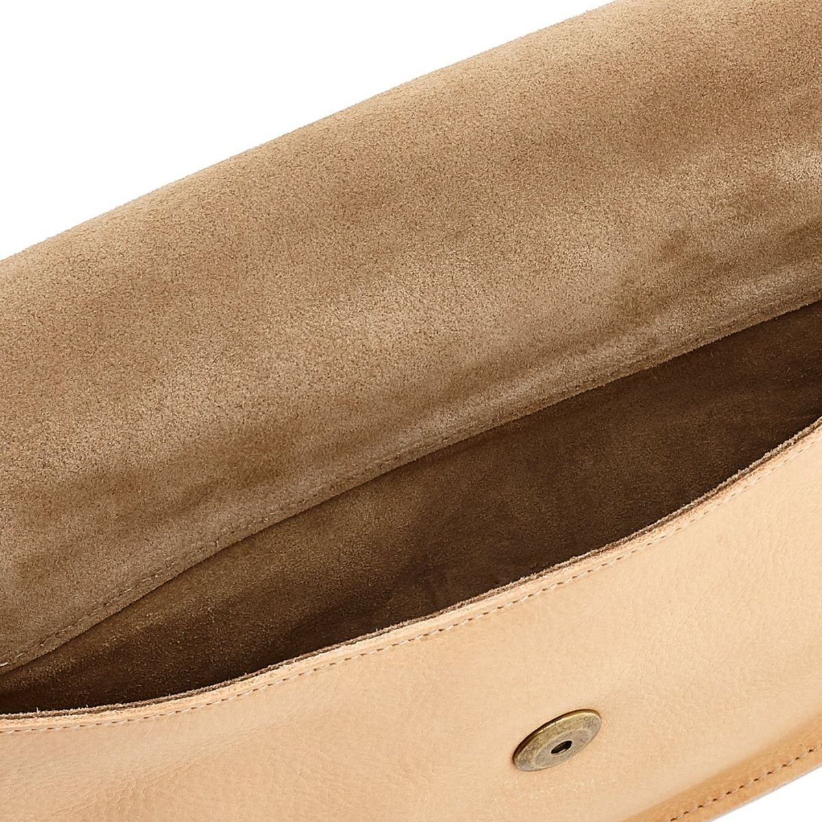 Women's Crossbody Bag Salina in Cowhide Leather BCR173 color Natural | Details