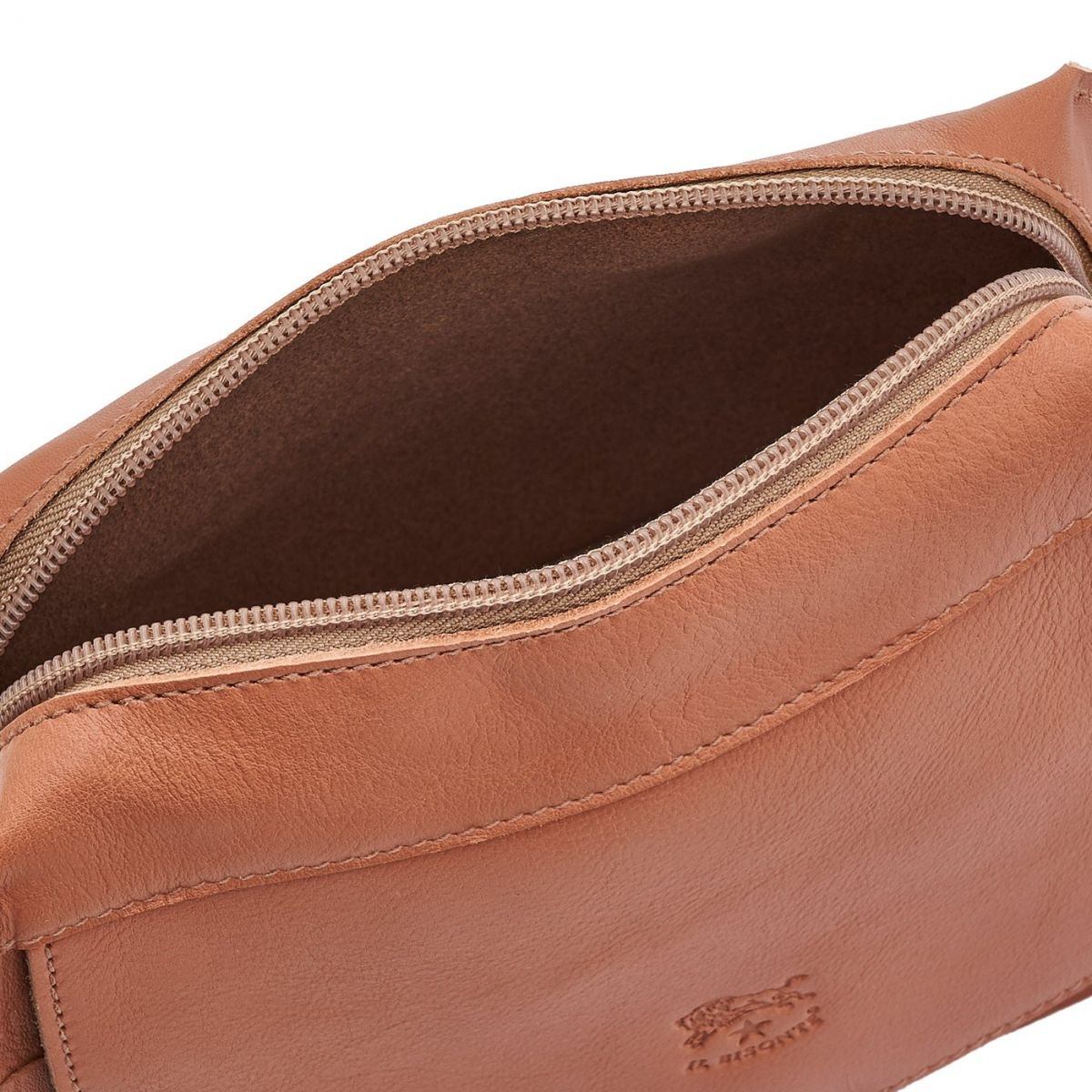 Women's Crossbody Bag Salina in Cowhide Leather BCR174 color Pink Pepper | Details