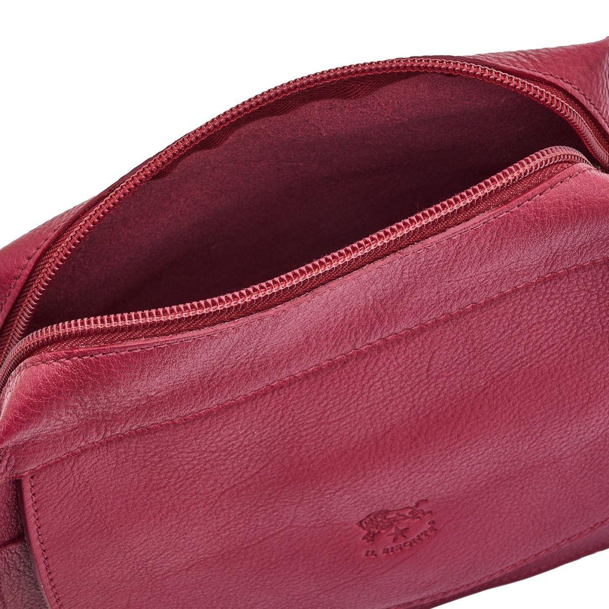 Borsa A Tracolla da Donna Salina in Pelle Di Vacchetta BCR174 colore Sumac   Details