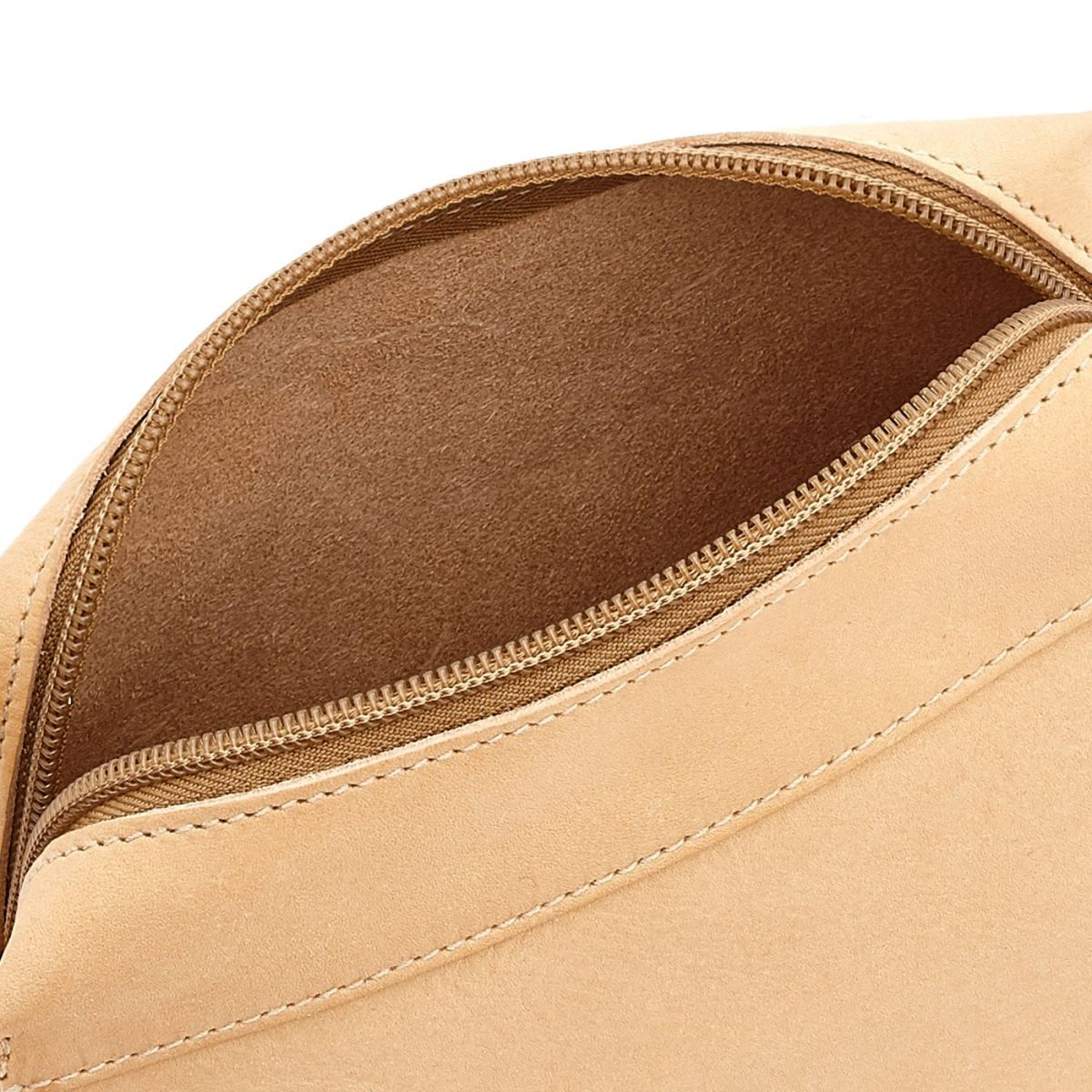 Women's Crossbody Bag Salina in Cowhide Leather BCR174 color Natural | Details