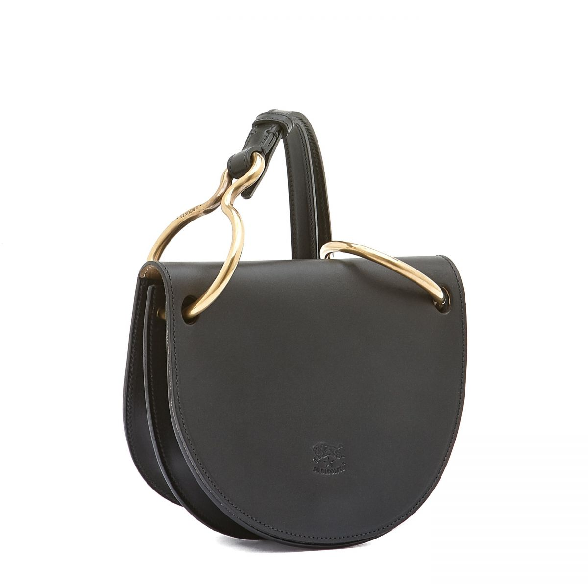 Women's Crossbody Bag Consuelo in Cowhide Leather BCR192 color Black | Details