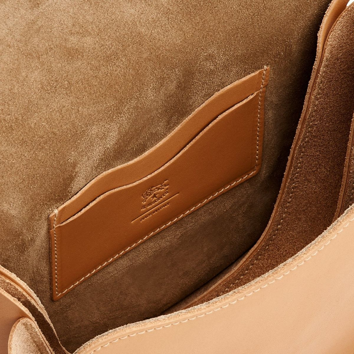 Women's Crossbody Bag Consuelo in Cowhide Leather BCR192 color Natural | Details