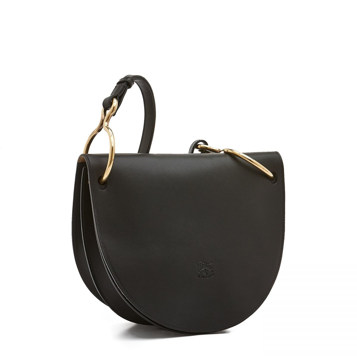 Women's Crossbody Bag Consuelo in Cowhide Leather BCR193 color Black | Details