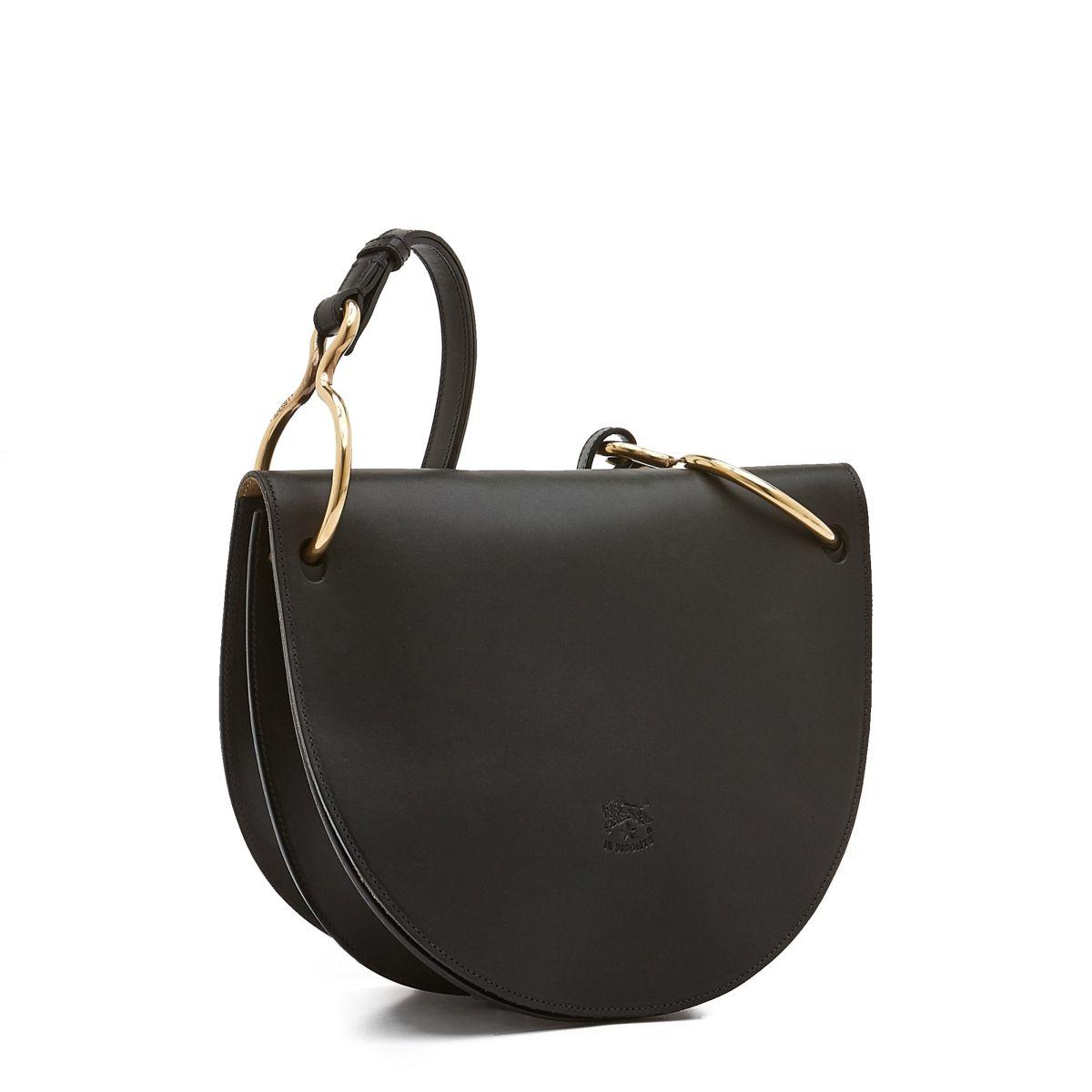 Sac Bandouliere pour Femme Consuelo en Cuir De Vachette BCR193 couleur Noir | Details
