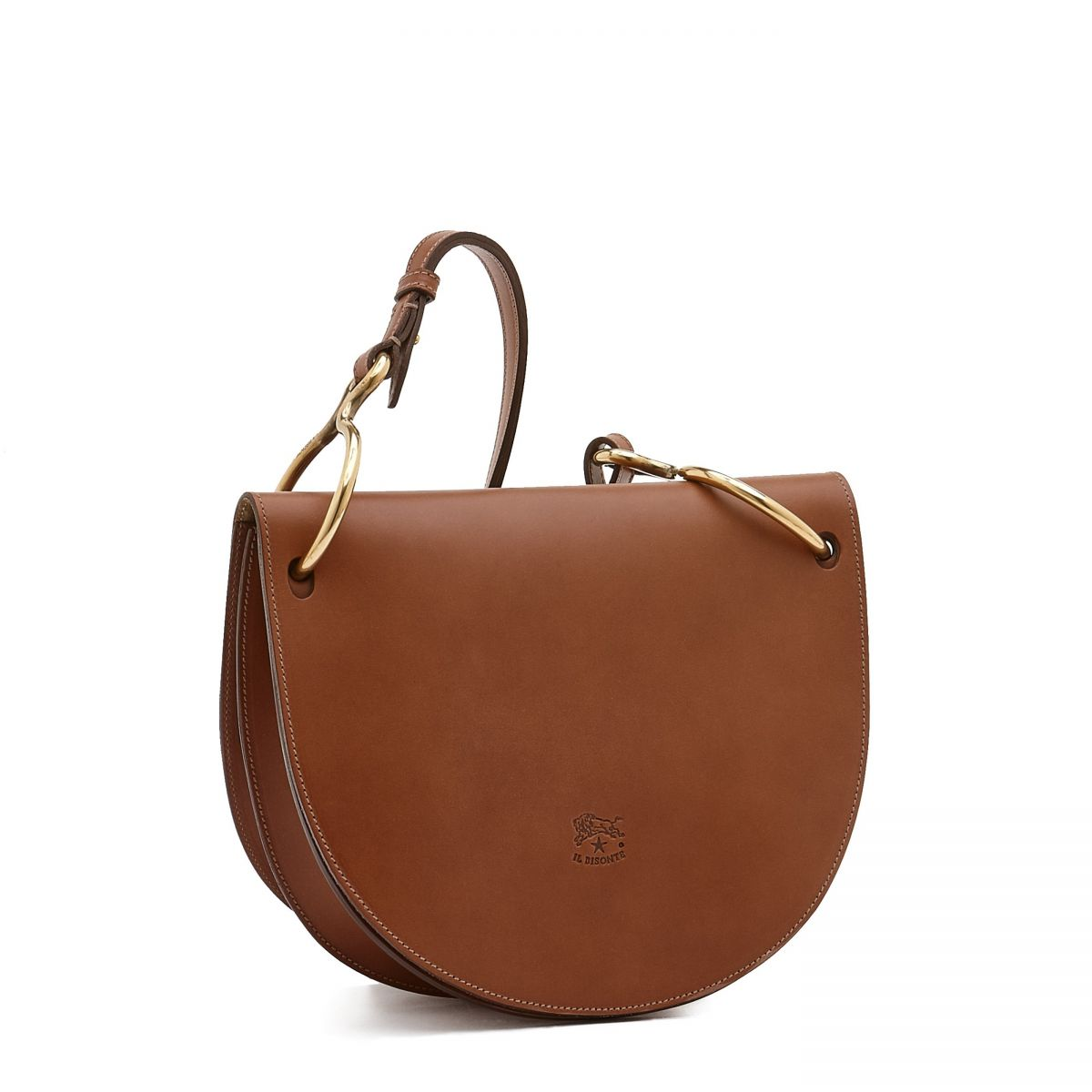 Women's Crossbody Bag Consuelo in Cowhide Leather BCR193 color Chocolate | Details