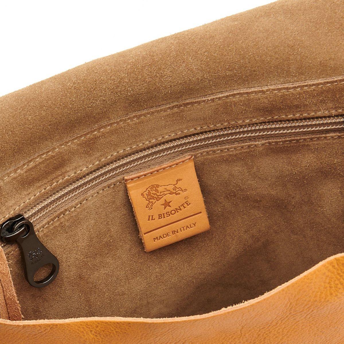 Men's Crossbody Bag Narciso in Vintage Cowhide Leather BCR194 color Natural | Details