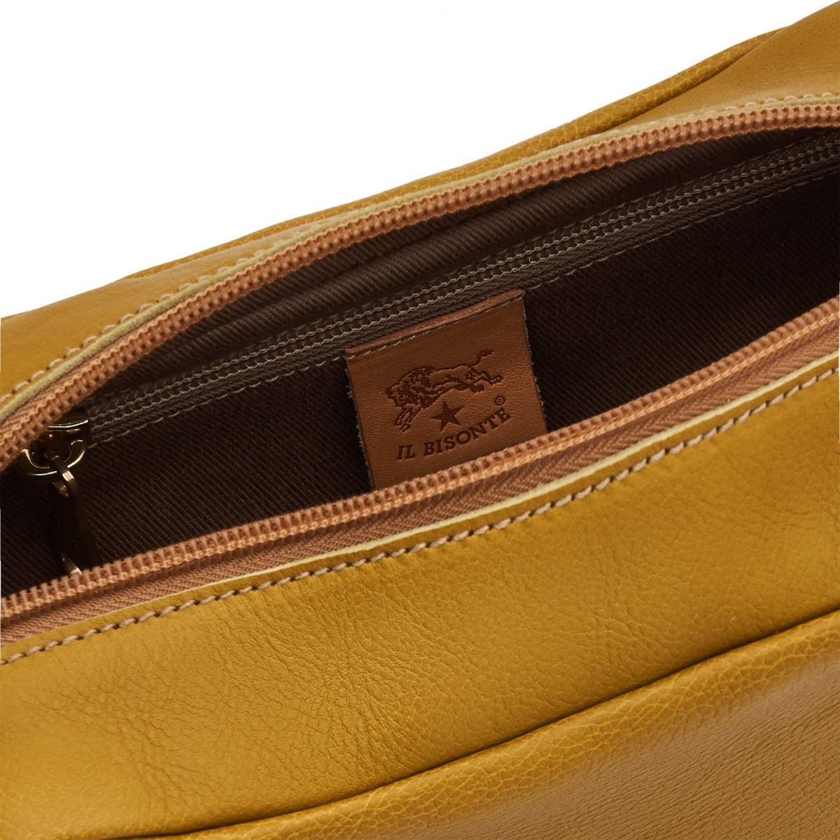 Matilde - Women's Crossbody Bag Salina in Cowhide Leather BCR199 color Curry   Details