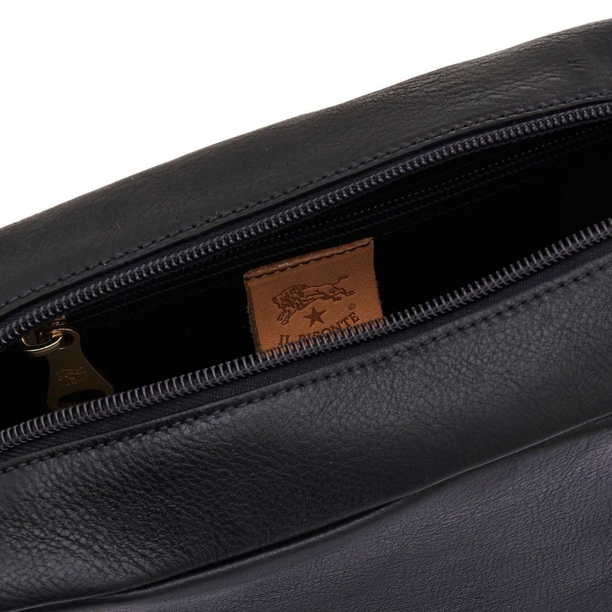Borsa A Tracolla da Donna Salina in Pelle Di Vacchetta BCR199 colore Nero | Details