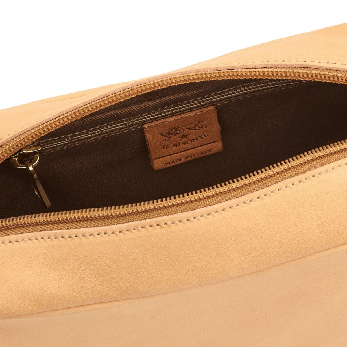 Women's Crossbody Bag Salina in Cowhide Leather BCR199 color Natural | Details