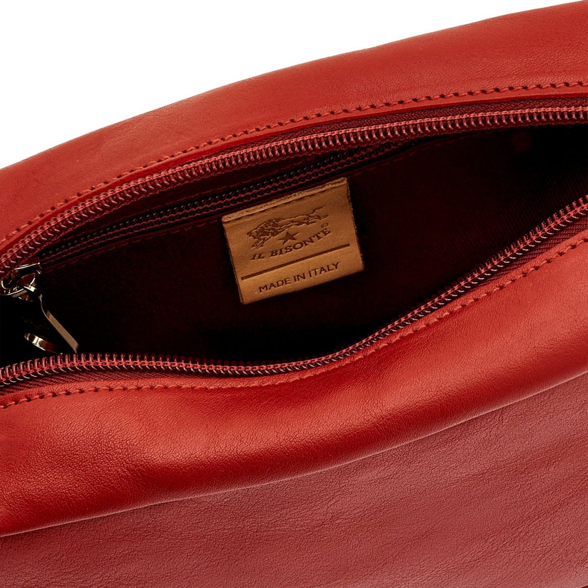 Women's Crossbody Bag Salina in Cowhide Leather BCR199 color Red | Details