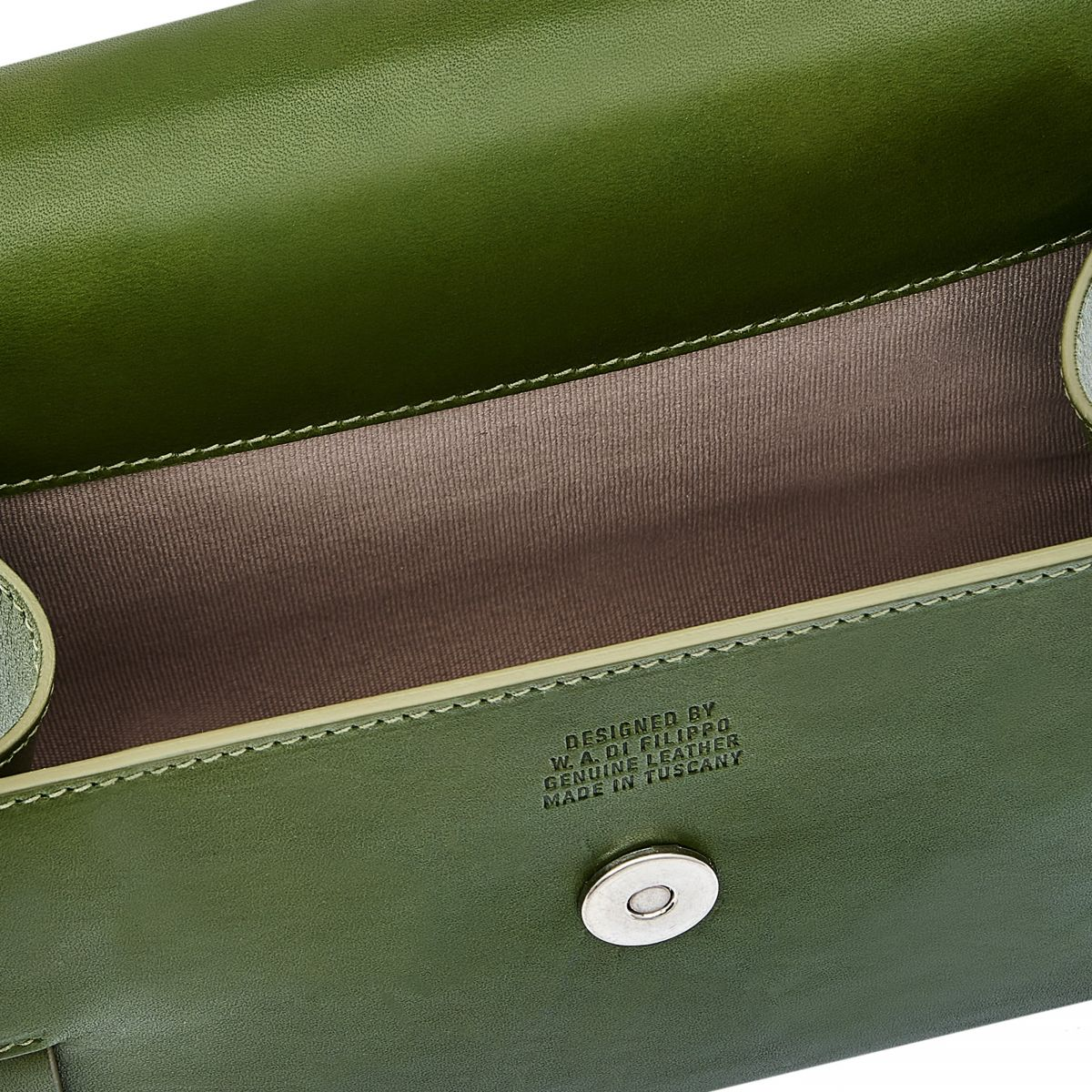 Stufa - Women's Crossbody Bag in Cowhide Leather color Green - Fifty On line BCR223 | Details