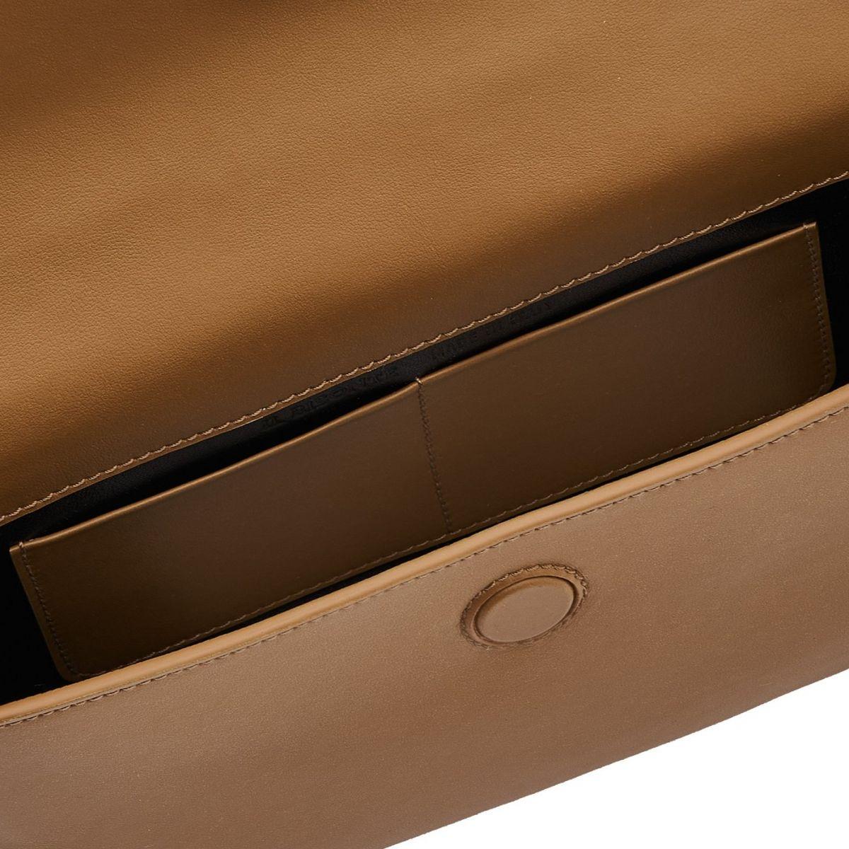 Baggu - Crossbody Bag in Calf Leather color Olive - New Nomad line BCR224 | Details