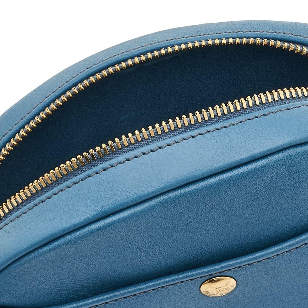 Borsa A Tracolla da Donna in Pelle Di Vacchetta colore Ottanio - BCR242 | Details