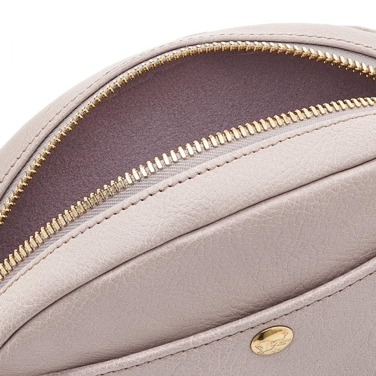 Borsa A Tracolla da Donna in Pelle Di Vacchetta colore Malva - BCR242 | Details