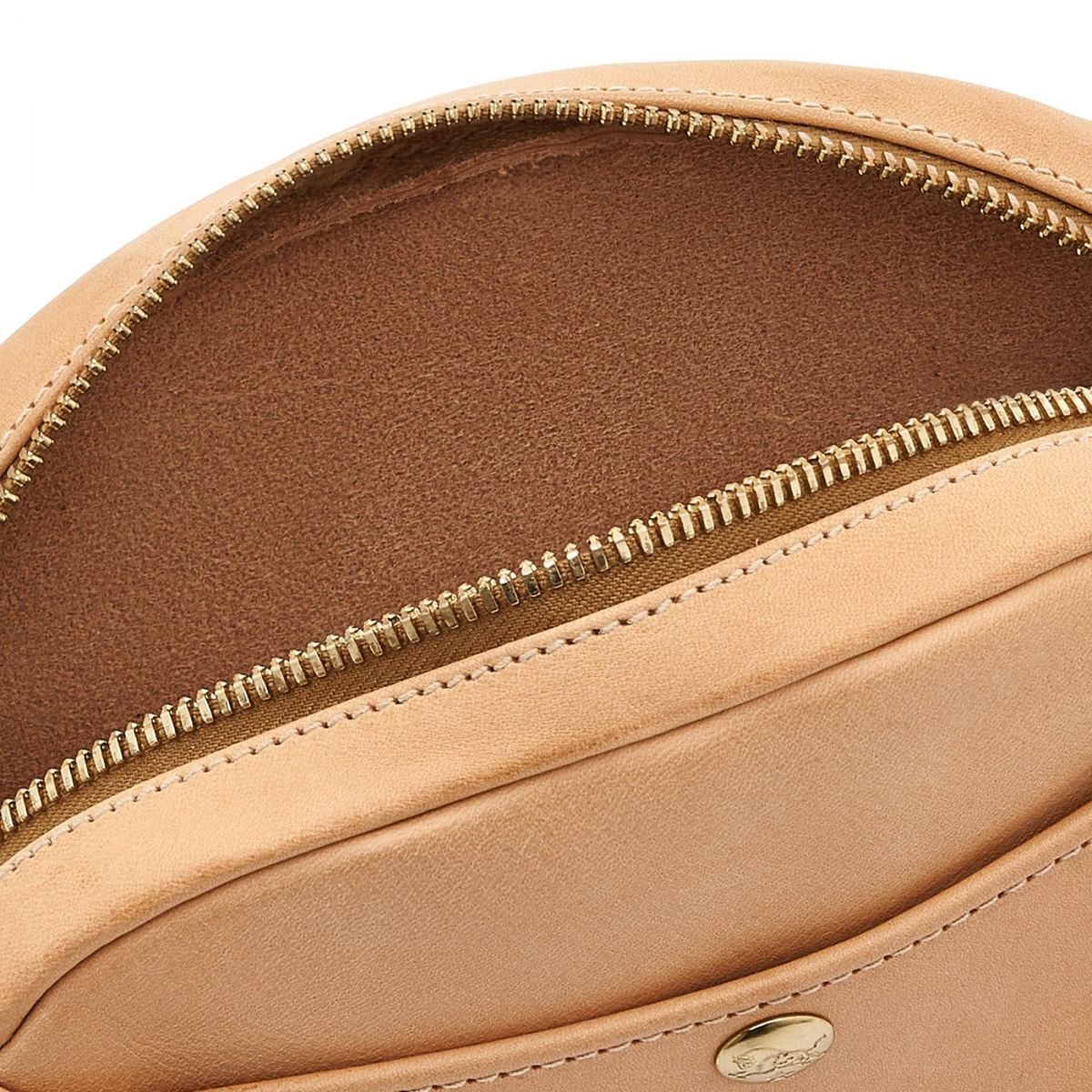 Women's Crossbody Bag in Cowhide Leather color Natural - Rubino line BCR242 | Details