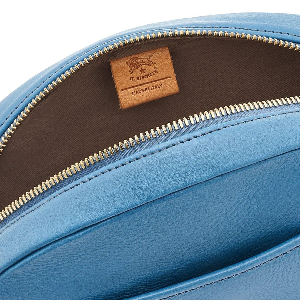 Sac Bandouliere pour Femme en Cuir De Vachette couleur Bleu Sarcelle - BCR243 | Details