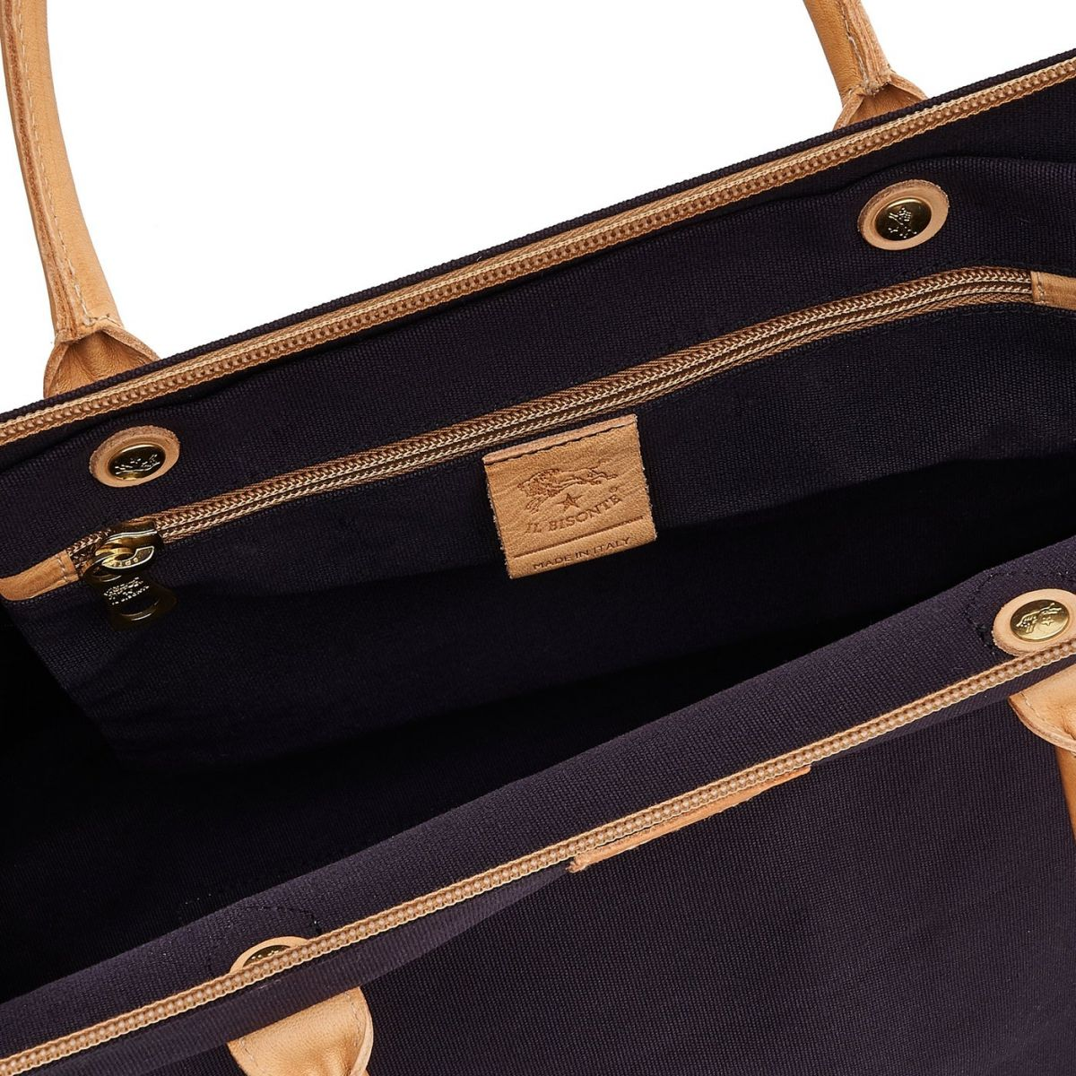 Vagabonda  - Travel Bag  in Cotton Canvas BDU028 color Blue | Details