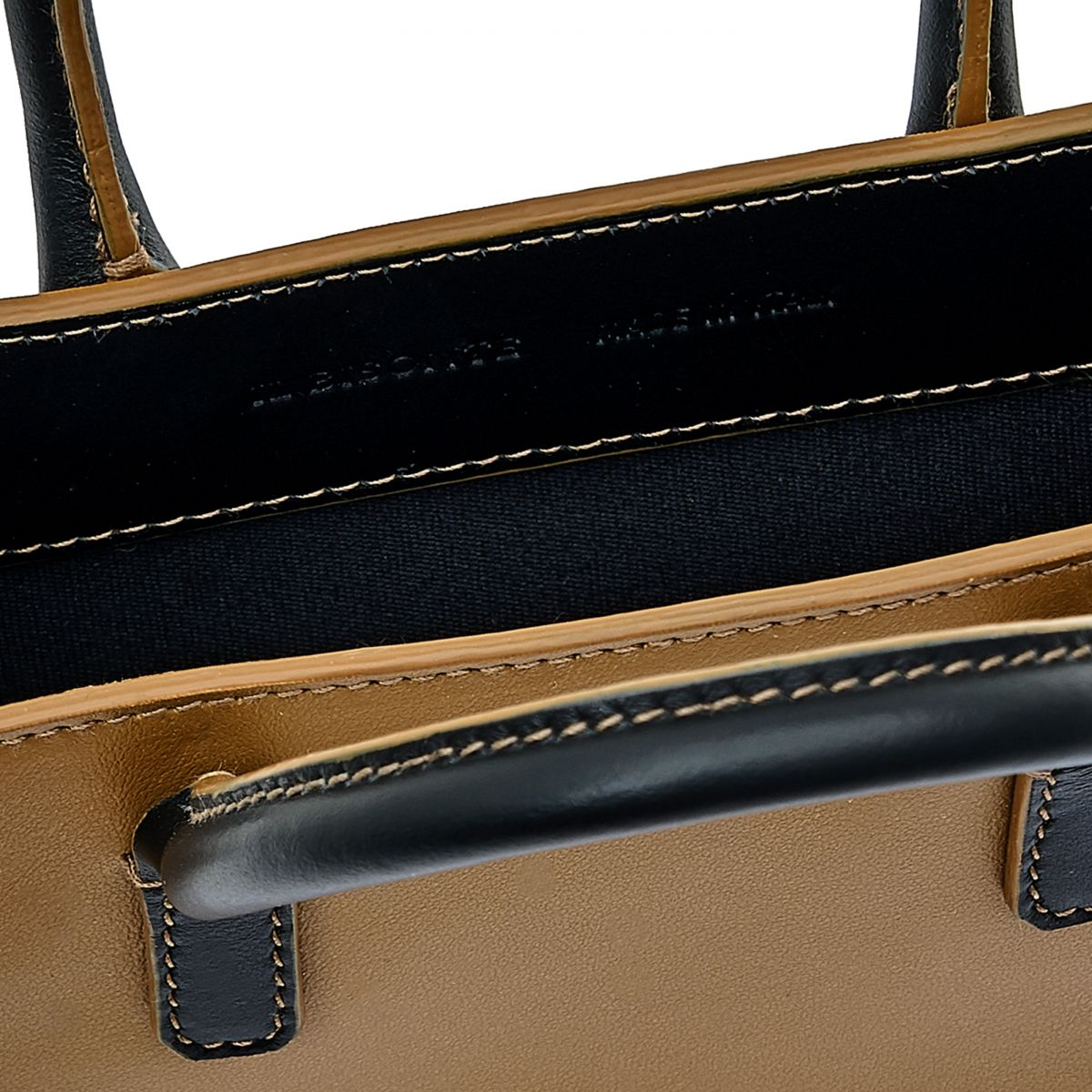 Sole Mini - Women's Handbag in Calf Leather color Black/Olive - Fifty On line BHA009 | Details