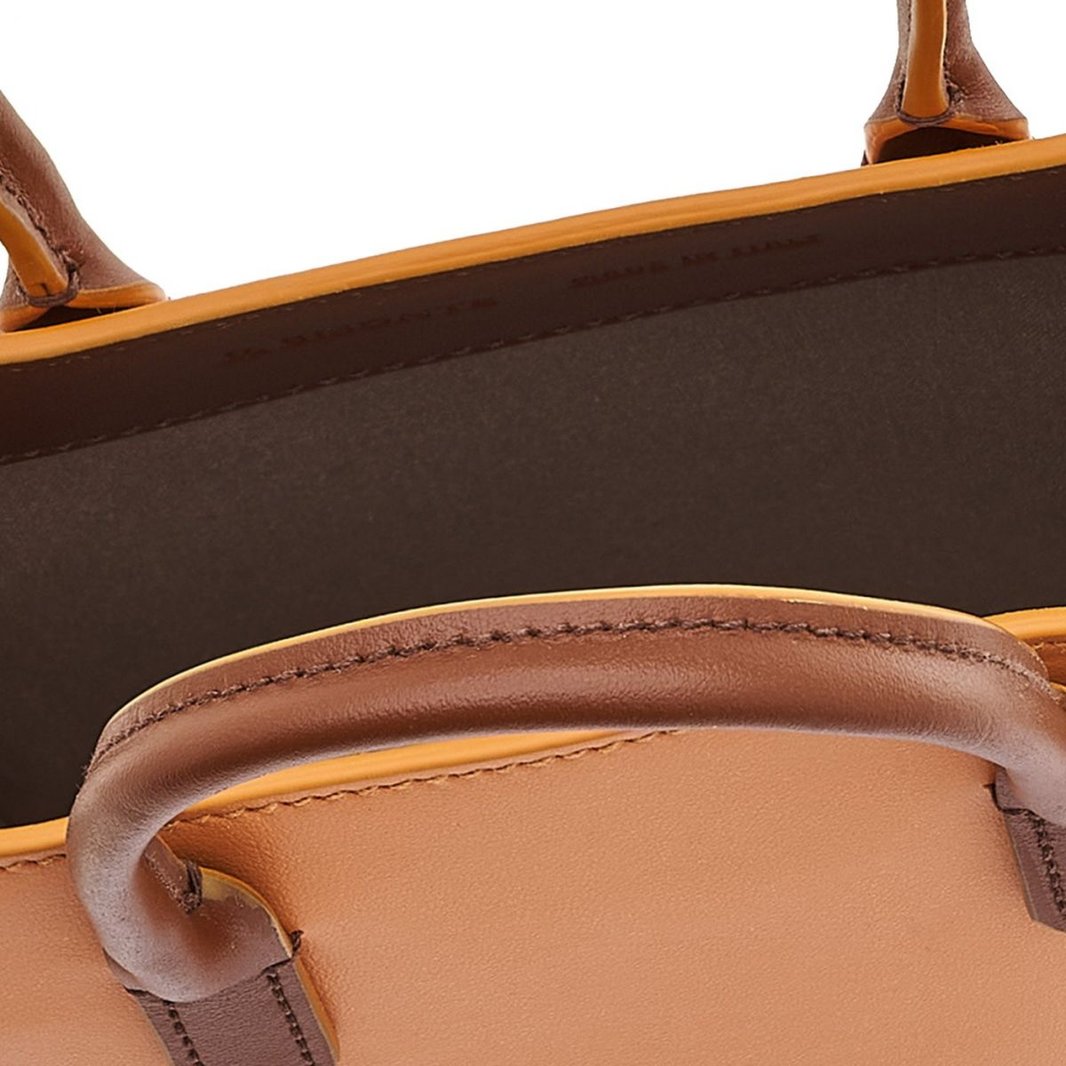 Sole Mini - Women's Handbag in Calf Leather color Tobacco/Natural - Fifty On line BHA009 | Details