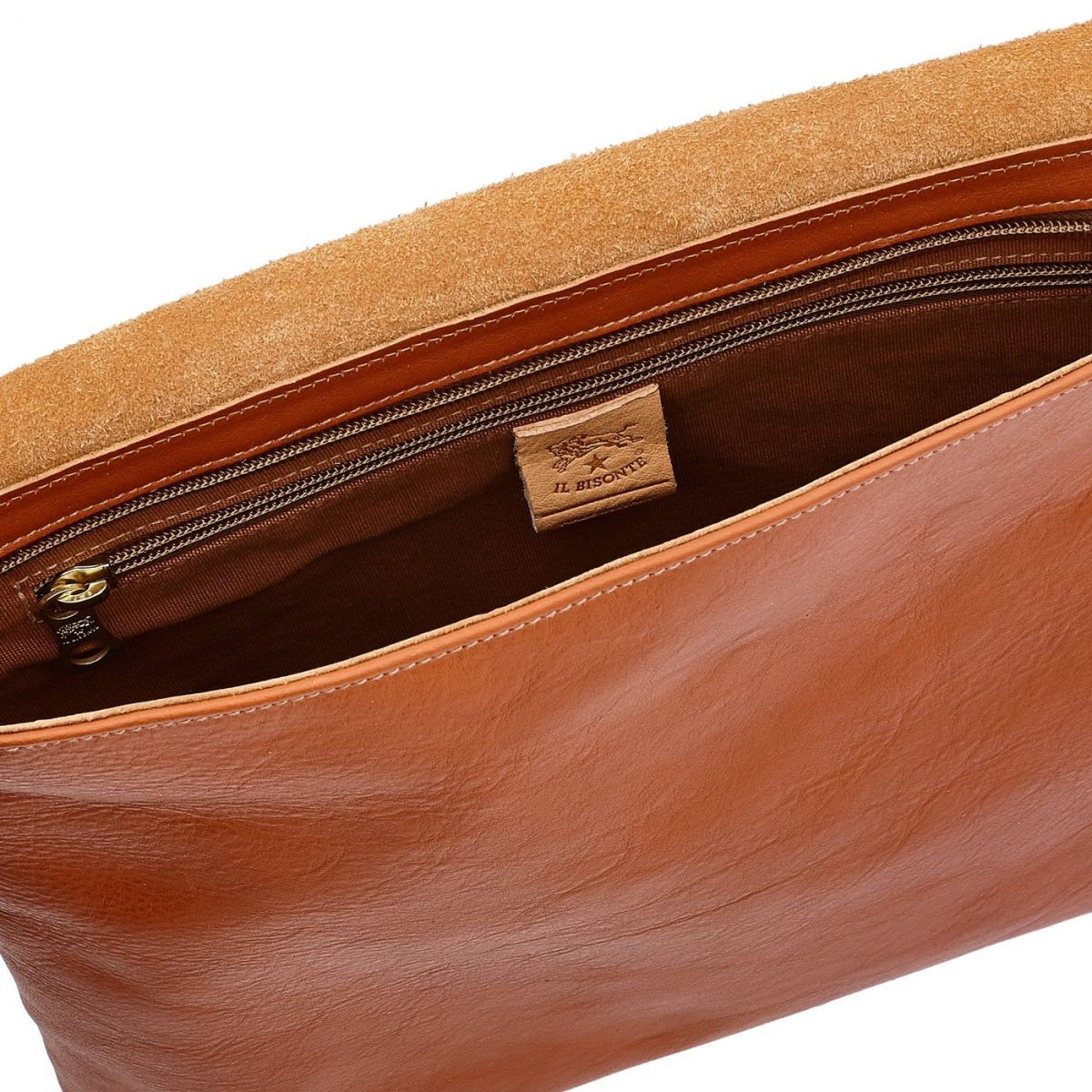 Men's Messenger in Cowhide Double Leather BME001 color Caramel | Details