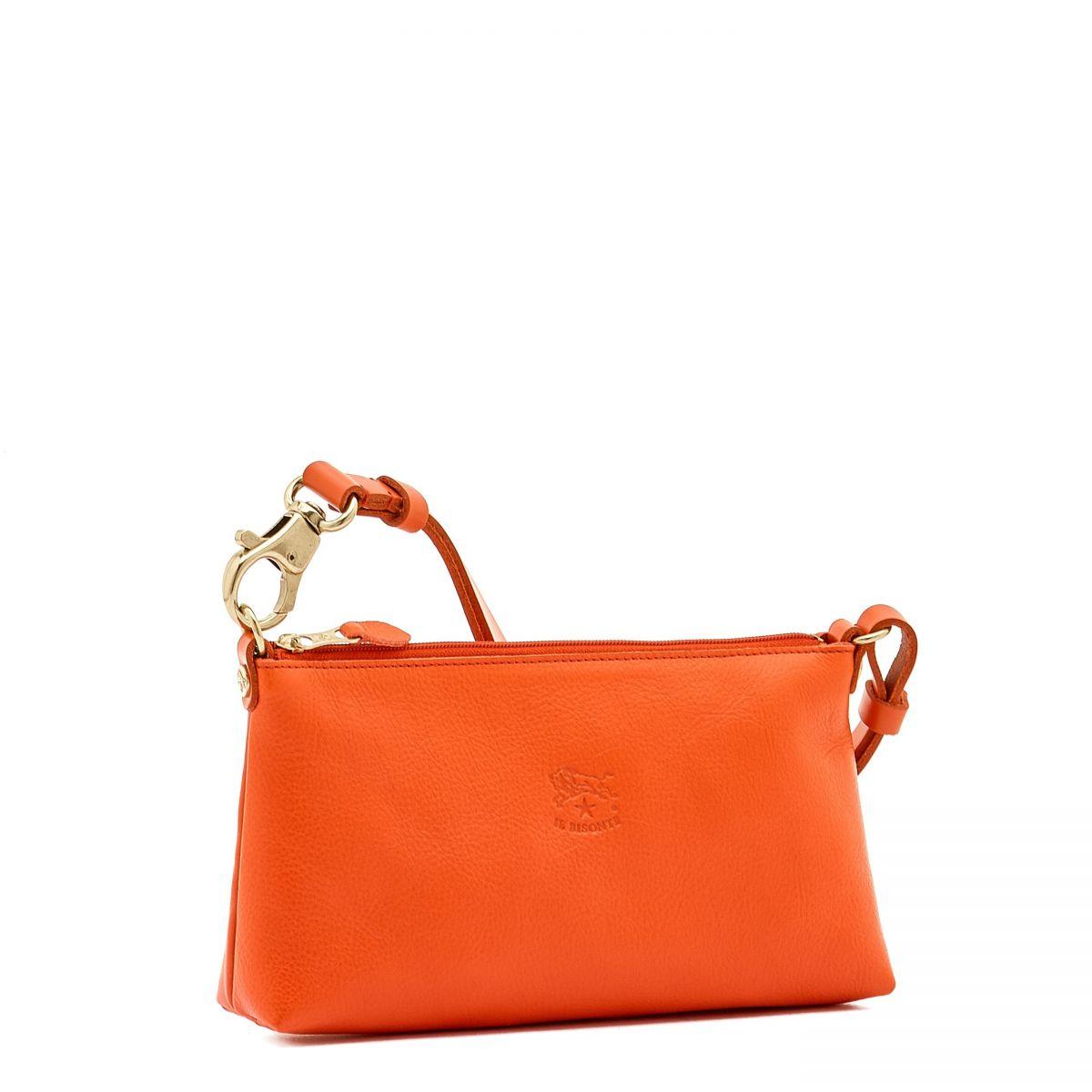 Women's Shoulder Bag in Cowhide Leather BSH012 color Gazpacho | Details