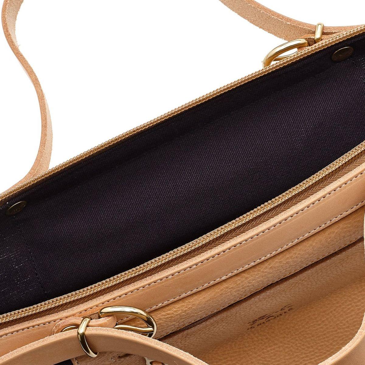 Caramella  - Sac Epaule pour Femme  en Cotton Canvas BSH025 couleur Bleu | Details