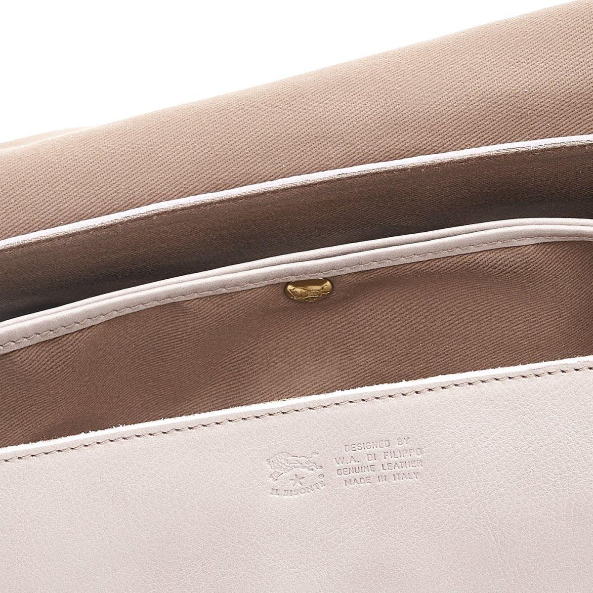 Women's Shoulder Bag in Cowhide Leather color Mauve - BSH034 | Details