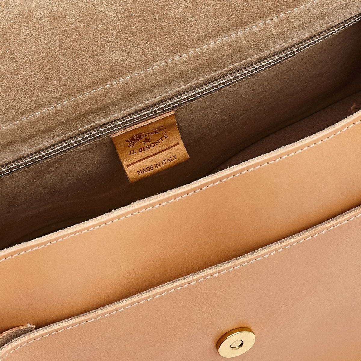Women's Shoulder Bag Consuelo in Cowhide Leather BSH079 color Natural | Details