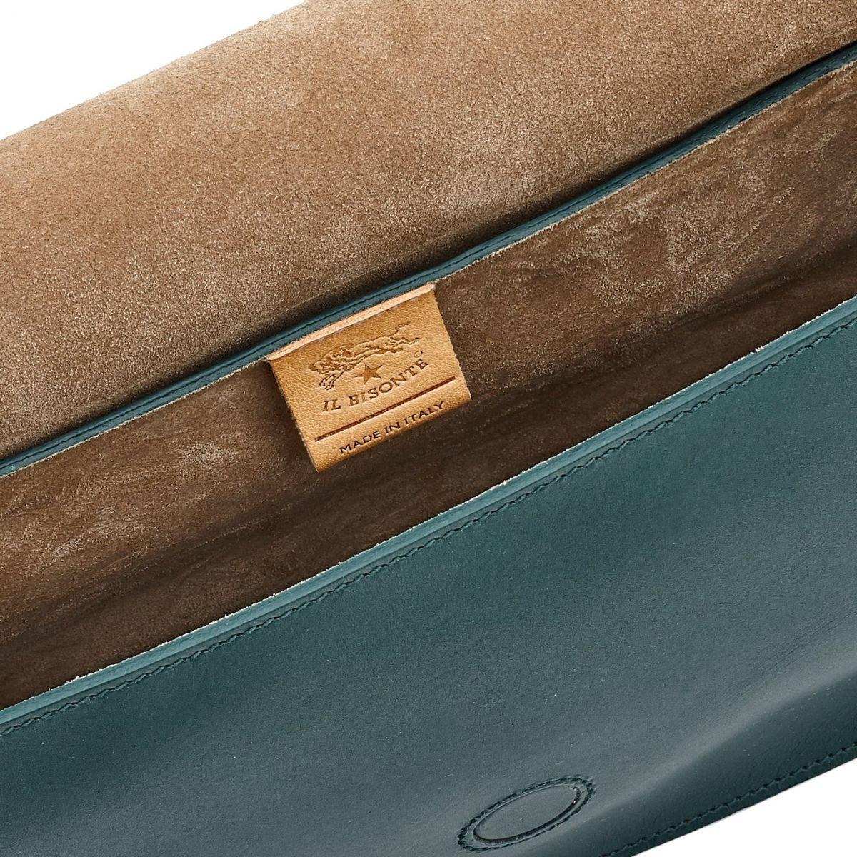 Sac Epaule pour Femme Consuelo en Cuir De Vachette BSH080 couleur Romarin | Details