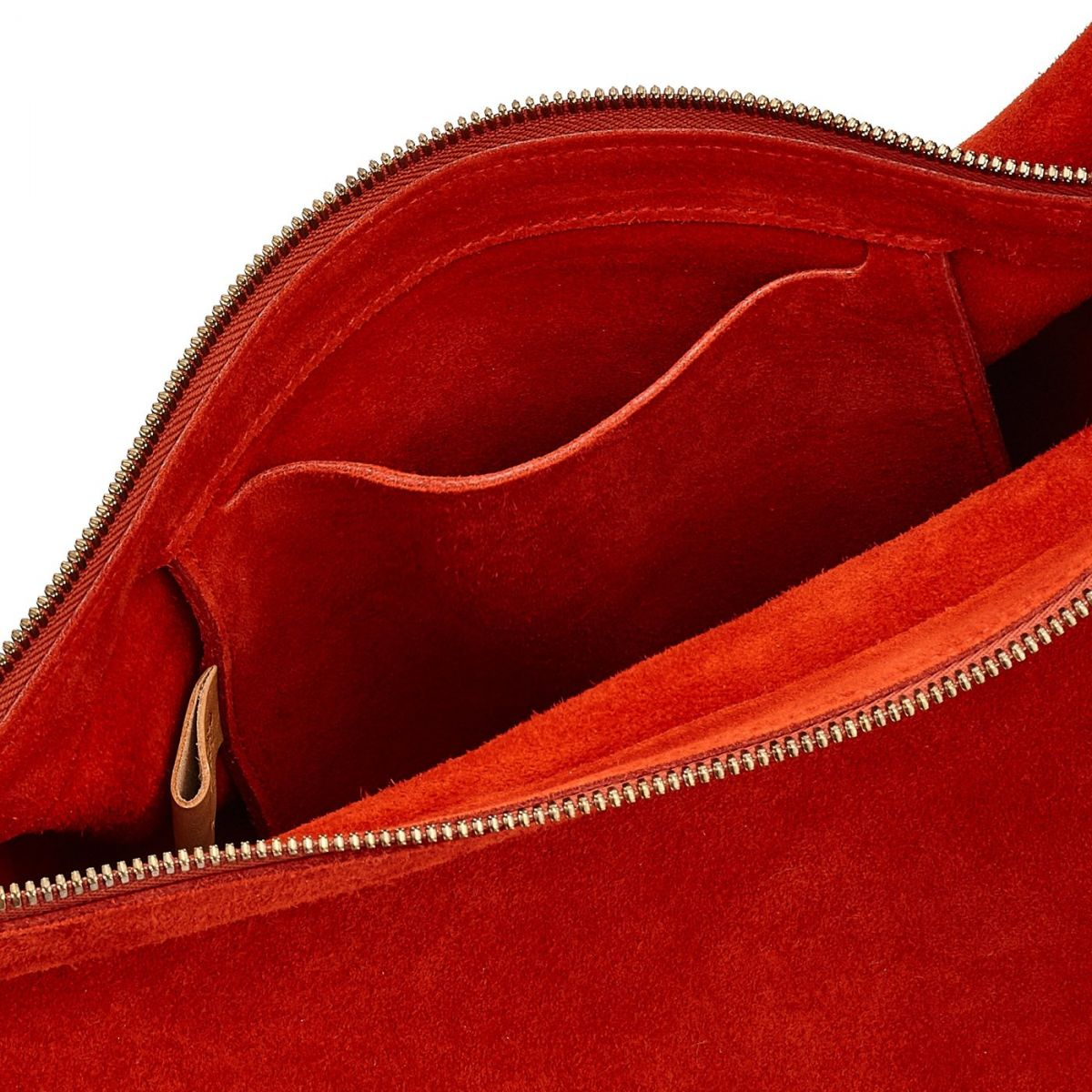 Sac Epaule pour Femme  en Cuir De Vachette BSH081 couleur Gazpacho | Details