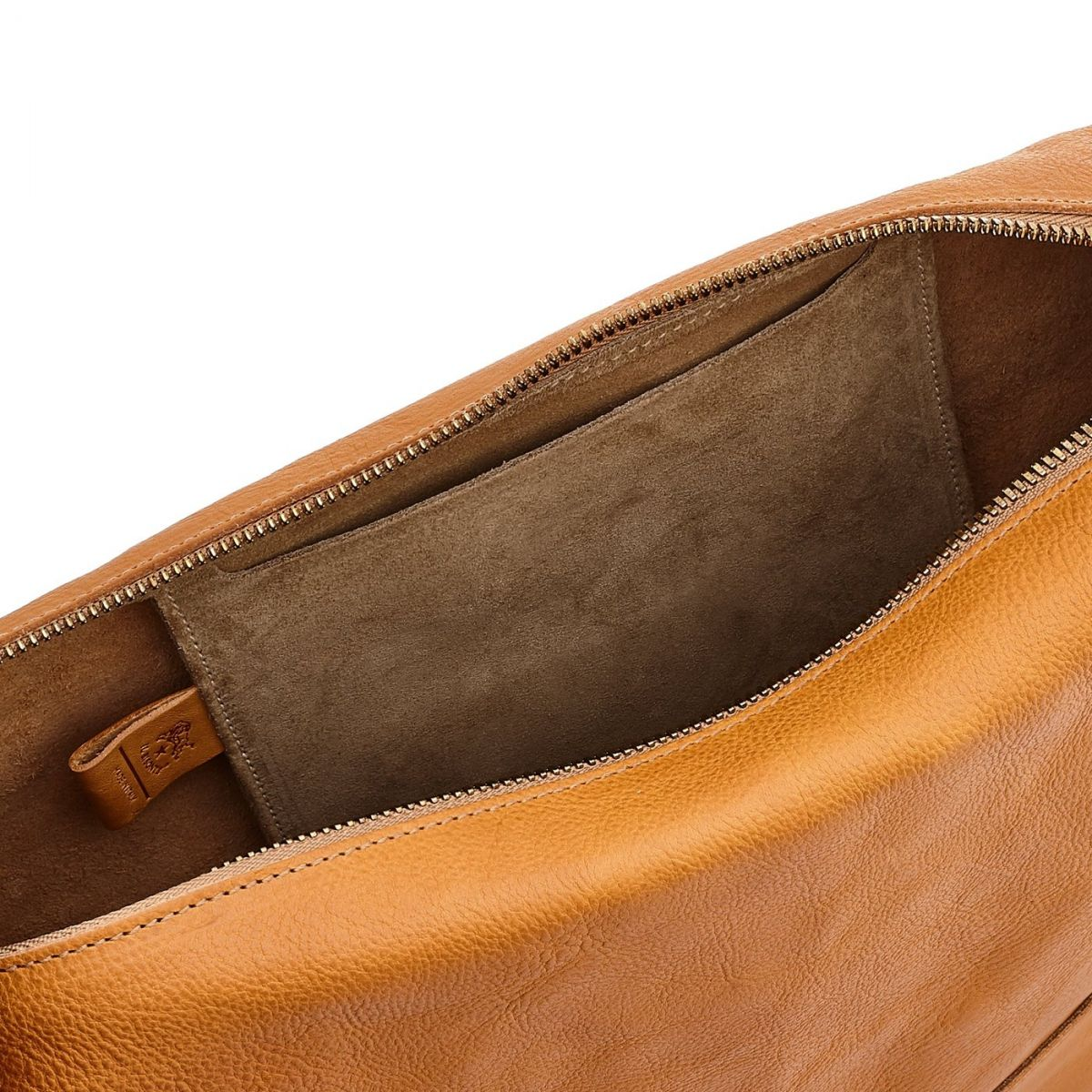 Women's Shoulder Bag Pantelleria in Vintage Cowhide Leather BSH081 color Natural | Details