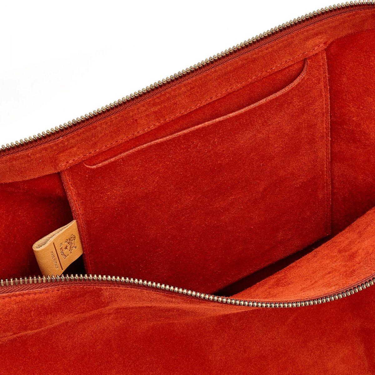 Women's Shoulder Bag  in Cowhide Leather BSH082 color Gazpacho | Details