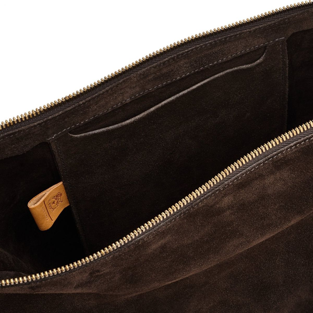 Women's Shoulder Bag  in Cowhide Leather BSH082 color Dark Brown | Details