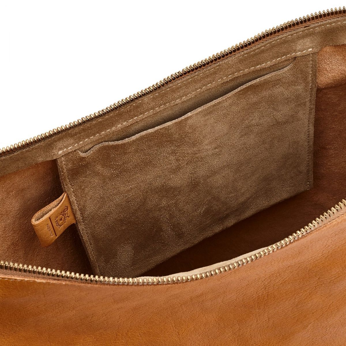 Women's Shoulder Bag Pantelleria in Vintage Cowhide Leather BSH082 color Natural | Details