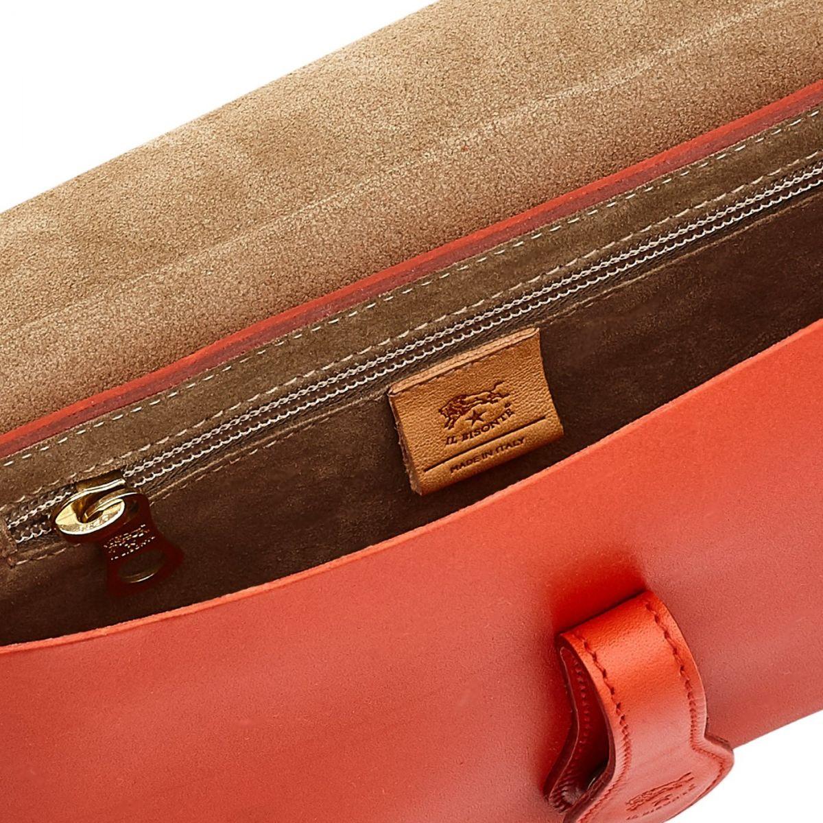 Women's Shoulder Bag Salina in Cowhide Leather BSH085 color Gazpacho | Details