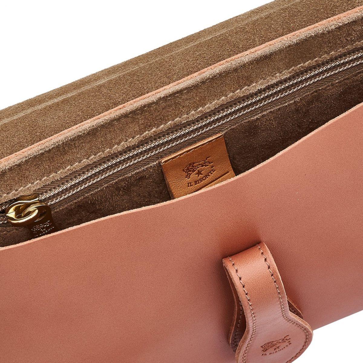Borsa A Spalla da Donna Salina in Pelle Di Vacchetta BSH085 colore Pepe Rosa | Details