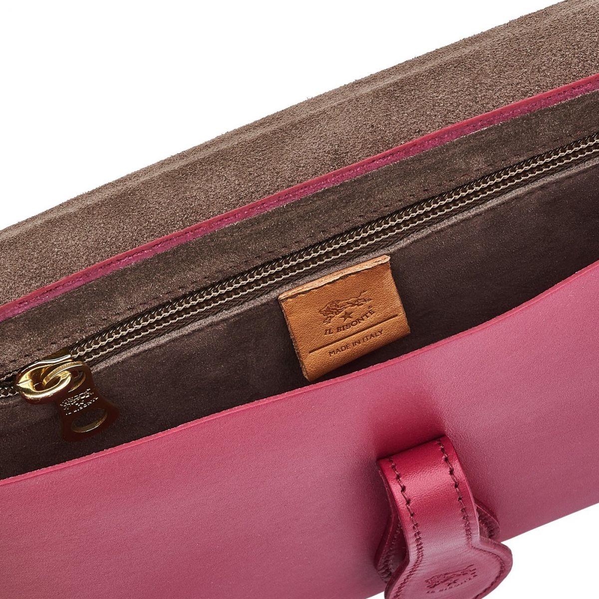 Sac Epaule pour Femme Salina en Cuir De Vachette BSH085 couleur Sumac | Details