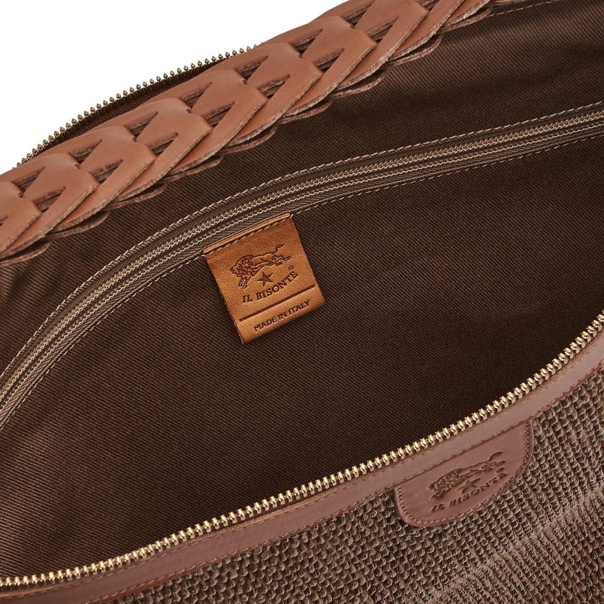 Women's Shoulder Bag  in Multi Fabric BSH088 color Brown | Details