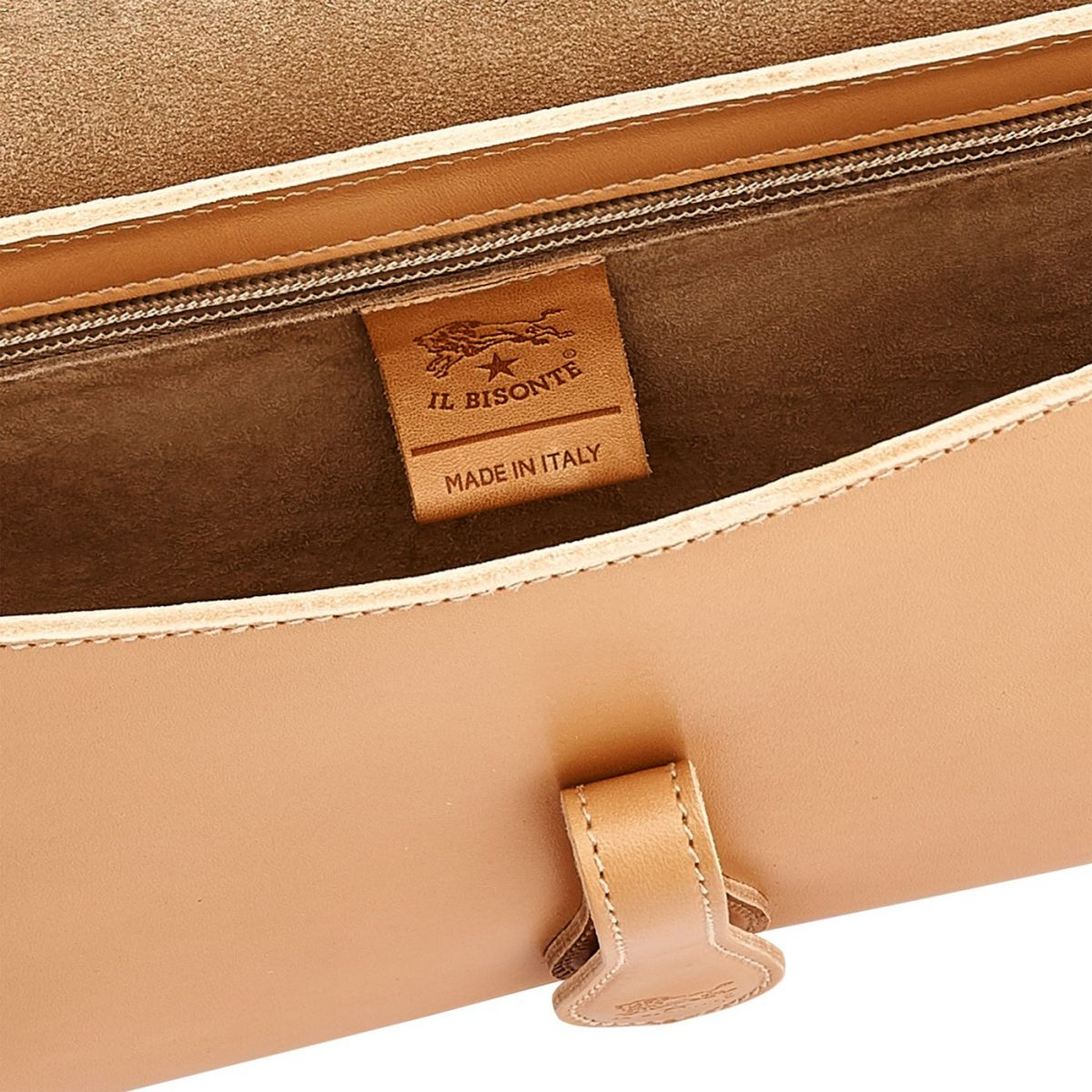 Women's Shoulder Bag Salina in Cowhide Leather BSH089 color Natural | Details