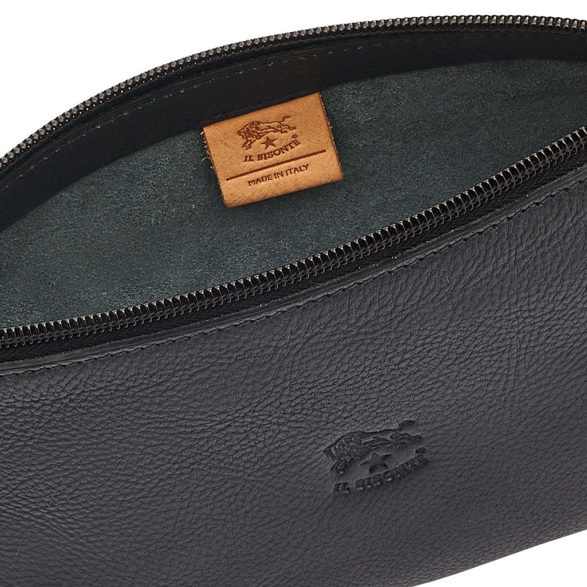 Lucia - Women's Shoulder Bag in Cowhide Leather color Blue - Salina line BSH091 | Details