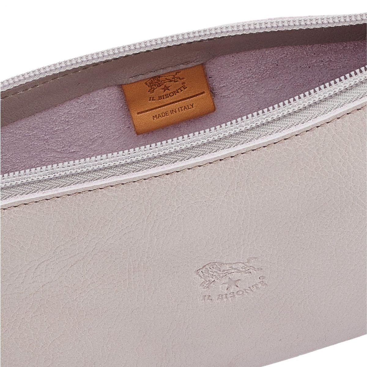 Lucia - Women's Shoulder Bag in Cowhide Leather color Mauve - Salina line BSH091 | Details