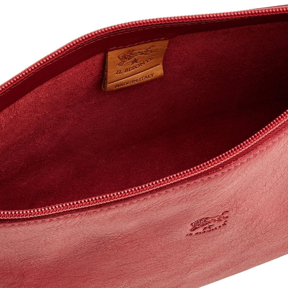 Women's Shoulder Bag Salina in Cowhide Leather BSH092 color Sumac | Details