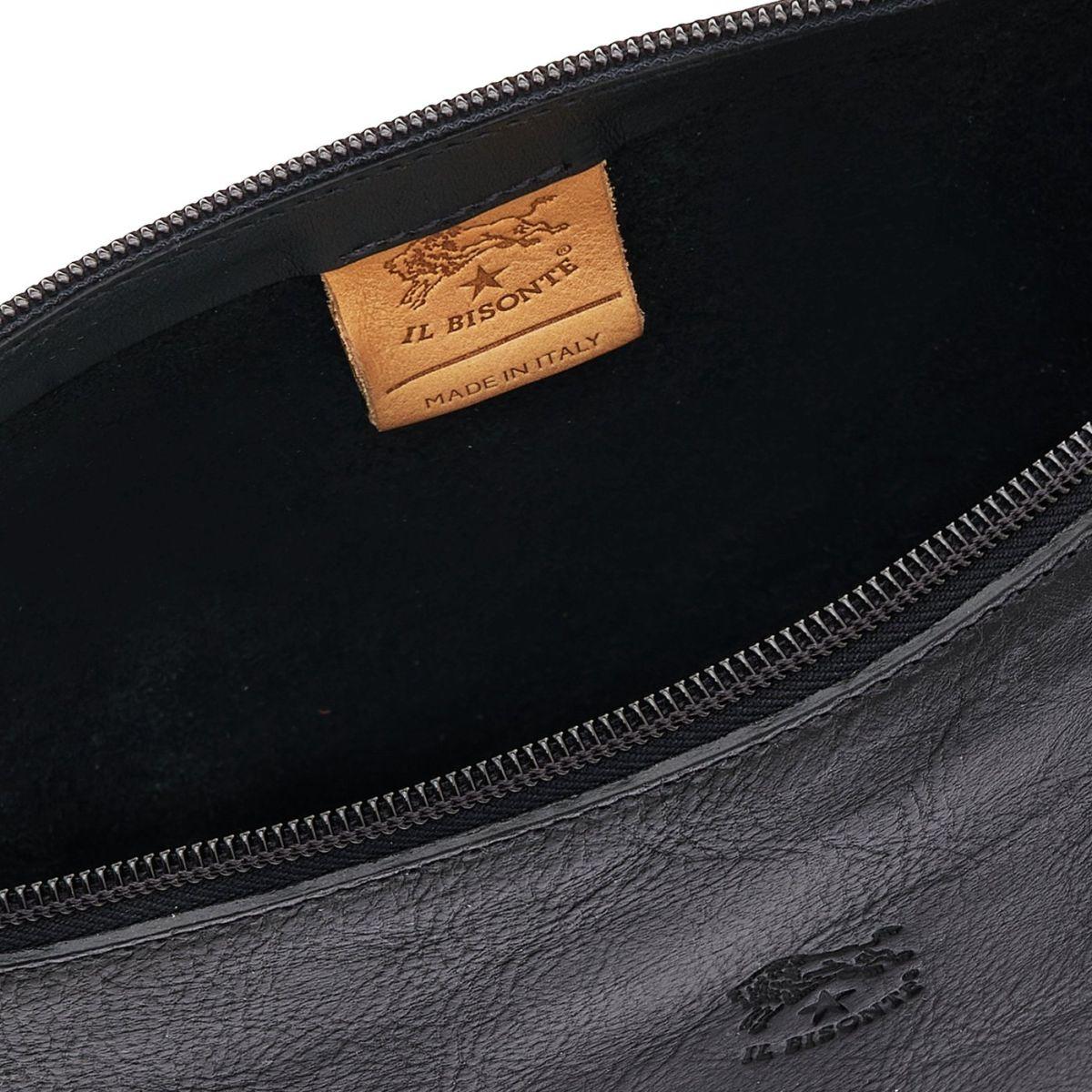 Women's Shoulder Bag Salina in Cowhide Leather BSH092 color Black | Details