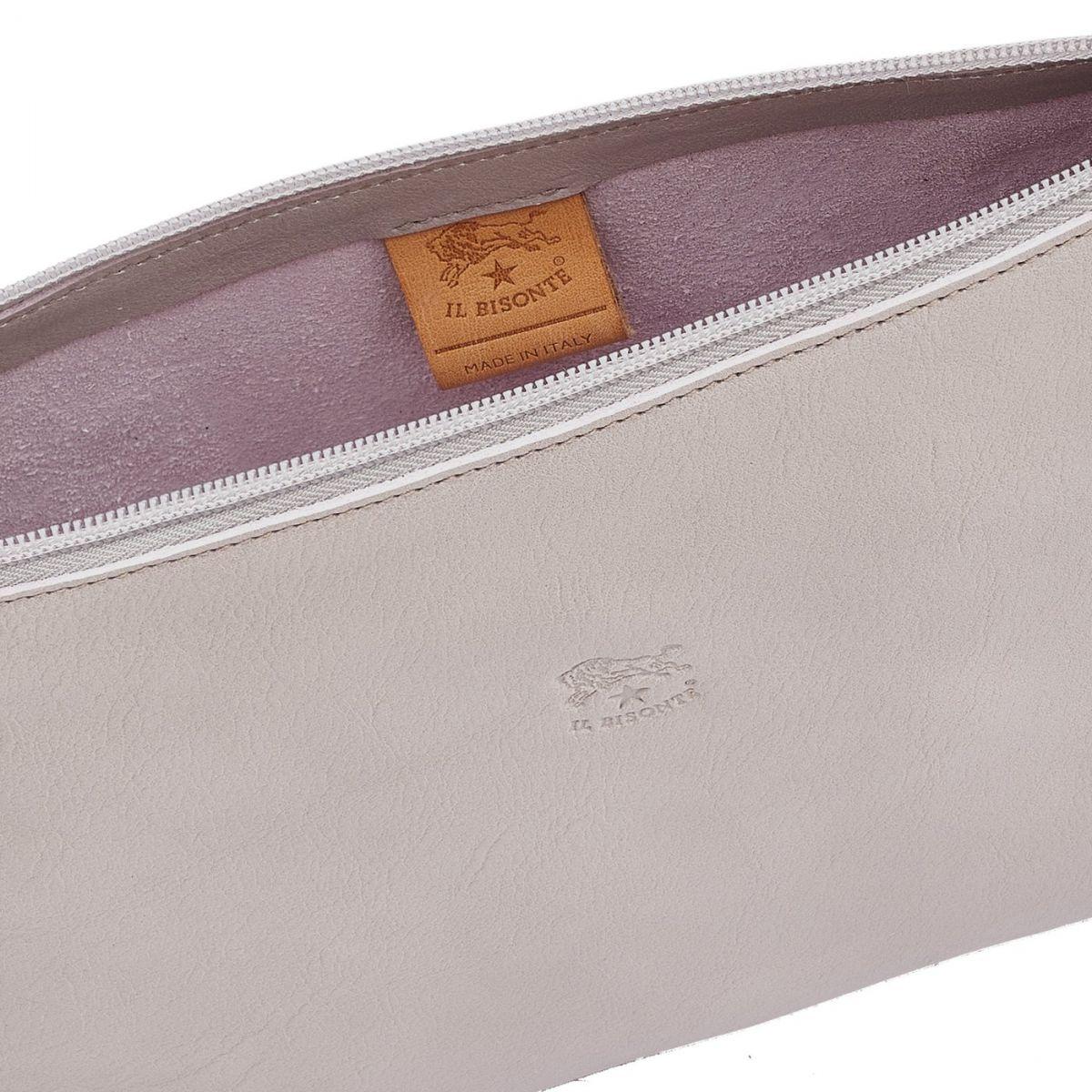 Women's Shoulder Bag in Cowhide Leather color Mauve - Salina line BSH092 | Details